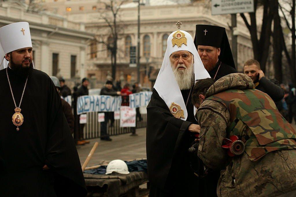 Филарет на майдане 2014 года, фото - Википедия