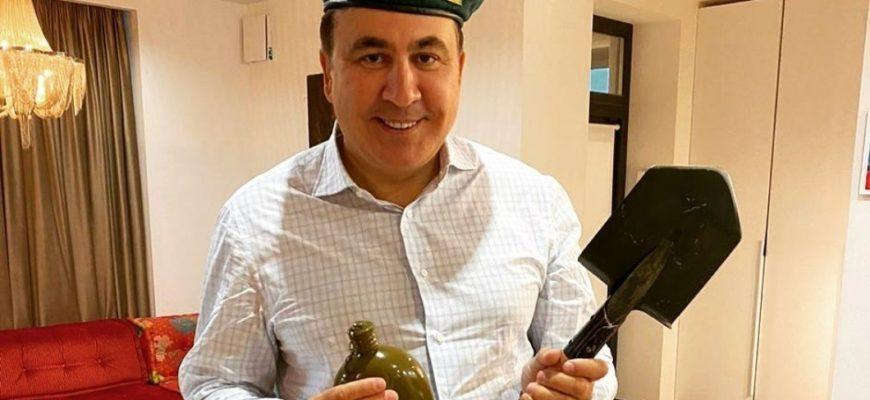 Саакашвили отпраздновал российский день пограничника